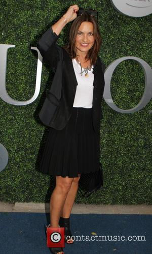Mariska Hargitay - Celebrities attend the 2015 U.S. Open Tennis Championships Men's Final between Novak Jokovic and Roger Federer at...
