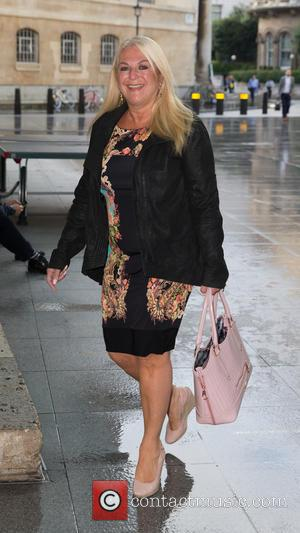 Vanessa Feltz - Vanessa Feltz pictured arriving at the Radio 1 studios at BBC Portland Place - London, United Kingdom...