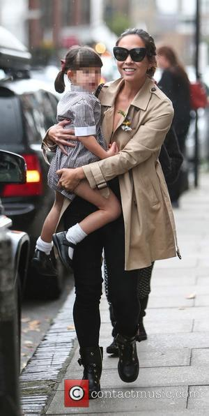 Myleene Klass, Ava Quinn , Hero Quinn - Myleene Klass out and about in London with her daughters Ava and...