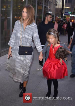 Jessica Alba , Honor Marie Warren - Jessica Alba out with her eldest daughter, Honor, in Mahattan - New York...