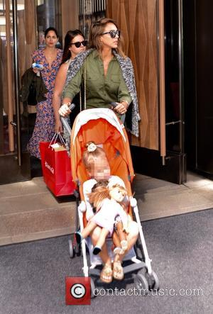 Jessica Alba , Haven Garner Warren - Jessica Alba leaving the Trump Soho New York Hotel in Manhattan with her...
