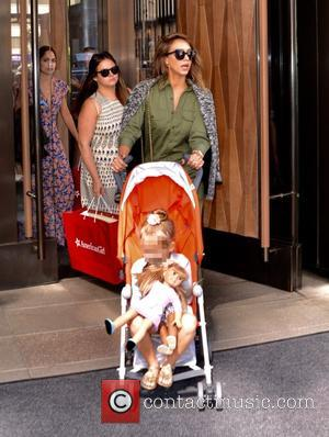 Jessica Alba , Haven Garner Warren - Jessica Alba leaving the Trump Soho New York Hotel in Manhattan - New...