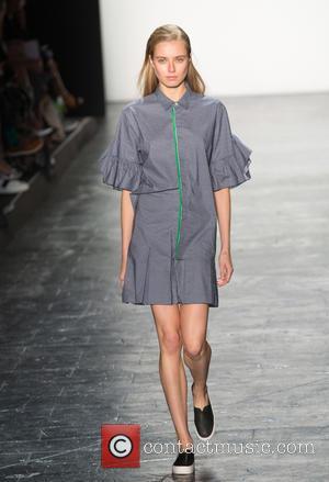 Model - New York Fashion Week Spring/Summer 2016 - Vivienne Tam - Runway at New York Fashion Week - New...