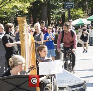 Gael García Bernal - On Location with Mozart in the Jungle at Washington Square Park - New York, New York,...