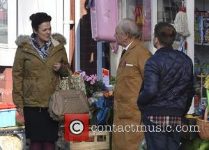 Sir David Jason , James Baxter - Still Open All Hours Filming In Doncaster For A Christmas Special at Filming...