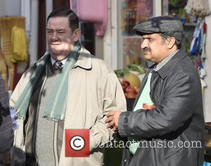 Johnny Vegas - Still Open All Hours Filming In Doncaster For A Christmas Special at Filming In Doncaster - Manchester,...