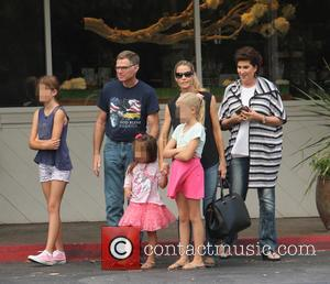 Denise Richards, Sam Sheen, Lola Rose Sheen and Eloise Joni Richards