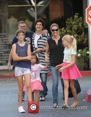 Denise Richards, Sam Sheen, Lola Rose Sheen , Eloise Joni Richards - Denise Richards out shopping with her family. Her...