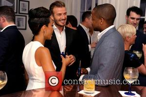 Jazmyn Simon, David Beckham and Dule Hill