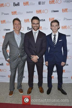 Tim Kring, actors Ryan Guzman , Robbie Kay - 2015 Toronto International Film Festival - 'Heroes Reborn' - Premiere -...