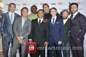 Jack Coleman, Tim Kring, Greg Grunberg, Jimmy Jean-louis, Robbie Kay, Henry Zebrowski and Ryan Guzman