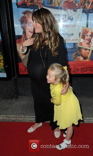 Samia Ghadie , Daughter Freya - Celebrities arrive at The Opera House Manchester for the Press Night of the family...