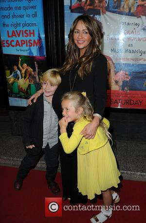 Samia Ghadie, Daughter Freya , Nephew - Celebrities arrive at The Opera House Manchester for the Press Night of the...