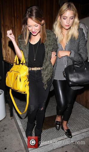 Ashley Benson - Ashley Benson leaves The Nice Guys in Hollywood with a friend - Los Angeles, California, United States...
