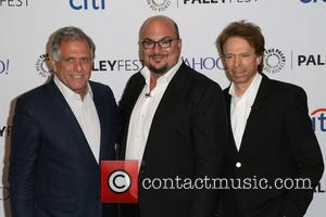Les Moonves, Anthony E. Zuiker and Jerry Bruckheimer