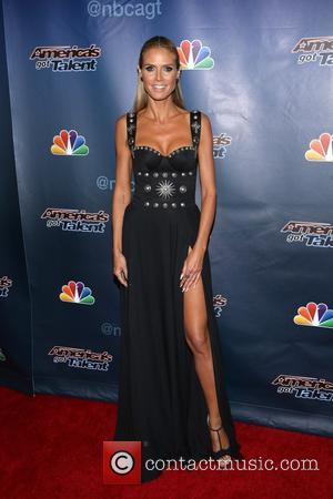 Heidi Klum - 'America's Got Talent' Post Show Red Carpet at Radio City Music Hall at Radio City Music Hall...