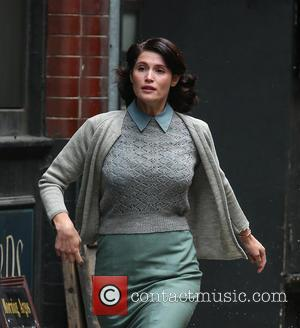 Gemma Arterton - Gemma Arterton films a scene for the movie 'Their Finest Hour and a Half' in east London...
