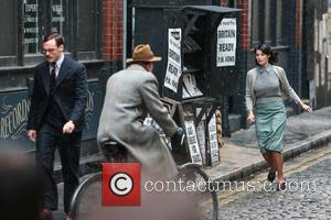 Gemma Arterton , Sam Claflin - Gemma Arterton and Sam Claflin film a scene for the movie 'Their Finest Hour...