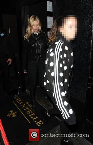 Kate Moss , Lila Grace Moss - Kate Moss and her daughter Lila Grace at The Chantelle Hotel Restaurant -...