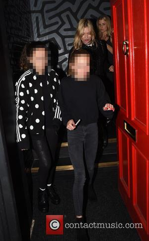 Kate Moss , Lila Grace Moss - Kate Moss at Hotel Chantelle wearing her wedding ring - London, United Kingdom...