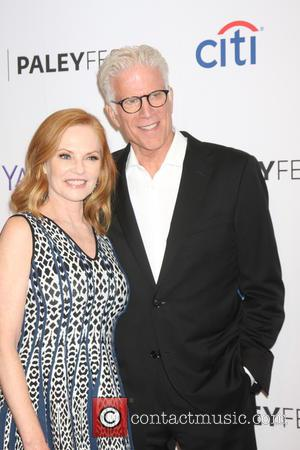 Marg Helgenberger and Ted Danson