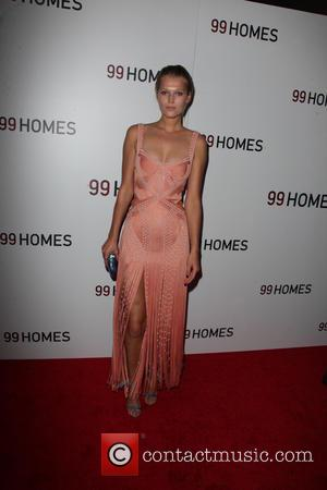 Toni Garrn - New York premiere of '99 Homes' at AMC Loews Theater - Arrivals - New York City, New...