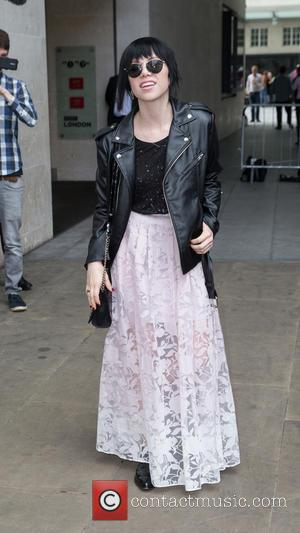 Carly Rae Jepsen - Carly Rae Jepsen pictured leaving the Radio 1 studios after performing on the Live Lounge at...