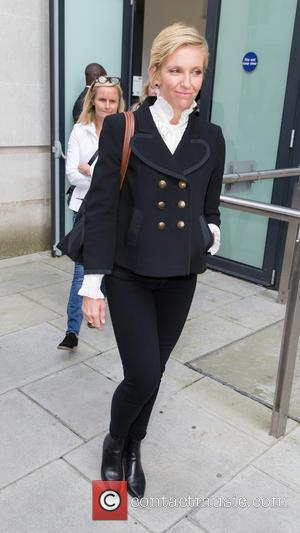 Toni Collette - Toni Collette leaving the BBC Studios after promoting her new film 'Miss You Already' at BBC Portland...