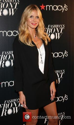 HEIDI KLUM - Macy's Fashion's Front Row at The Theater at Madison Square Garden - Arrivals at Macy's, Madison Square...