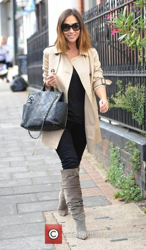 Myleene Klass - Myleene Klass out and about with her daughters Hero and Ava in North London - London, United...