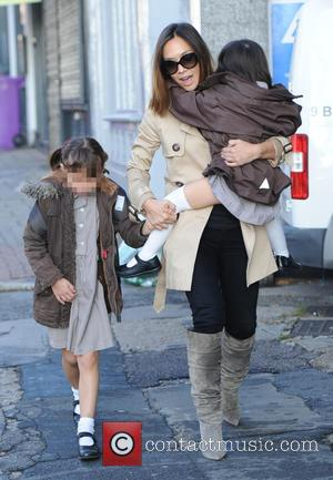 Hero Harper Quinn , Ava Bailey Quinn - Myleene Klass out and about with her daughters Hero and Ava in...