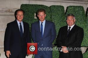 David Cameron and Prince Harry