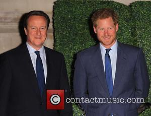 David Cameron , Prince Harry - Prince Harry and David Cameron  arrive at Pre Opening dinner. - London, United...