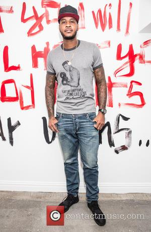 Carmelo Anthony - VIP opening reception for Domingo Zapata's 'From the Garden of Eden To Giverny' held at Redbird Gallery...