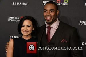 Demi Lovato , Rashad Jennings - Samsung Hope For Children Gala 2015 - Red Carpet Arrivals at Hammerstein Ballroom -...