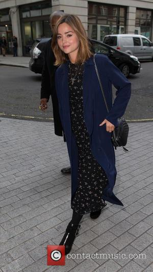 Jenna Coleman - Jenna Coleman arriving at the Radio 1 studio to appear as a guest on the Nick Grimshaw...