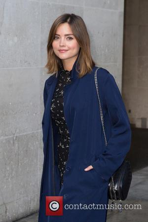 Jenna Coleman - Jenna Coleman leaving the Radio 1 studio after appearing as a guest on the Nick Grimshaw Breakfast...