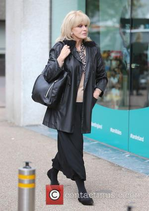 Joanna Lumley - Joanna Lumley filming outside ITV Studios - London, United Kingdom - Friday 18th September 2015