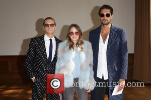 Oliver Proudlock, Rosie Fortescue , Hugo Taylor - London Fashion Week Spring/Summer 2016 - Daks - Front Row at London...