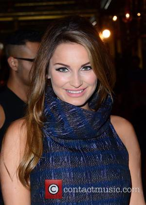 Sam Faiers - London Fashion Week Spring/Summer 2016 - Paul Costelloe - Front Row at London Fashion Week - London,...