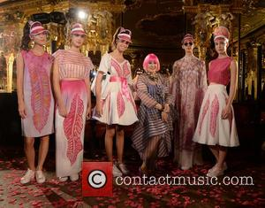 Zandra Rhodes - London Fashion Week Spring/Summer 2016 - Zandra Rhodes - Inside Arrivals at London Fashion Week - London,...