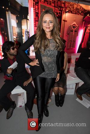 Emily Atack - LFW S/S: PPQ front row - London, United Kingdom - Friday 18th September 2015