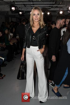 Kimberley Garner - LFW S/S: PPQ front row - London, United Kingdom - Friday 18th September 2015
