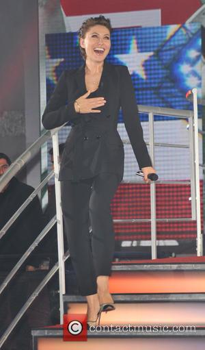 Emma Willis - Celebrity Big Brother Summer 2015 - Live Eviction at Elstree Studios, Celebrity Big Brother - London, United...