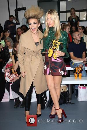 Laura Whitmore , Tallia Storm - London Fashion Week Spring/Summer 2016 - Fyodor Golan - Front Row at London Fashion...