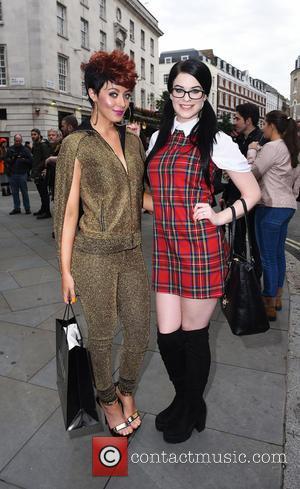 Hatty Keane , Jessica Ann - London Fashion Week Spring/Summer 2016  - Pam Hogg - Outside at London Fashion...