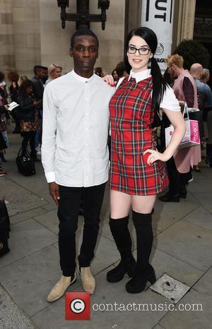 Jessica Ann , Leroy Dawkins - London Fashion Week Spring/Summer 2016  - Pam Hogg - Outside at London Fashion...
