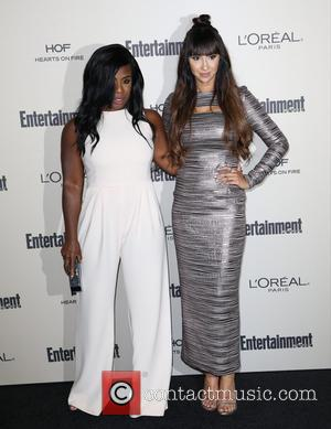 Uzo Aduba , Jackie Cruz - 2015 Entertainment Weekly Pre-Emmy Party at Fig & Olive Melrose Place - Arrivals at...
