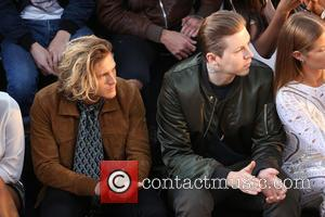 Dougie Poynter , Professor Green - London Fashion Week Spring/Summer 2016 - Julien Macdonald - Front Row at London Fashion...
