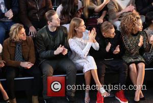 Professor Green, Millie Mackintosh, Ella Eyre , Lewi Morgan - London Fashion Week Spring/Summer 2016 - Julien Macdonald - Front...